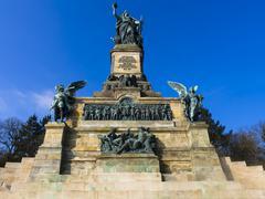 Niederwald Monument UNESCO World Heritage Site Rudesheim am Rhein Rhine Gorge Stock Photos