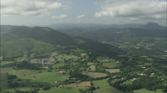 AERIAL France-Flight Up Ridge In Pyrenees Stock Footage