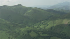 AERIAL France-Foothills Of The Pyrenees Stock Footage