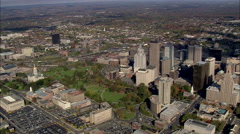 AERIAL United States-First Church Of Hartford Stock Footage