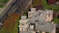 AERIAL United States-Armsmear Mansion (Samuel Colt Home) Stock Footage