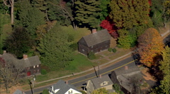 AERIAL United States-Buttolph Williams House Stock Footage