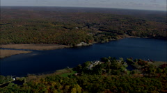 AERIAL United States-Connecticut River North Of Essex Village Stock Footage