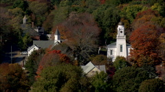 AERIAL United States-Essex Village Stock Footage
