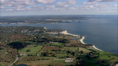 AERIAL United States-Along The Coast To New London Stock Footage