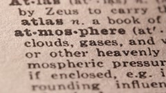Atmosphere - Fake dictionary definition of the word with pencil underline Stock Footage