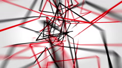 Abstract triangle lines background loop Stock Footage