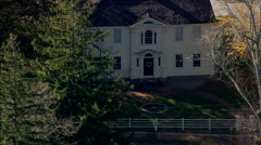 AERIAL United States-Prudence Crandall House And Museum Stock Footage