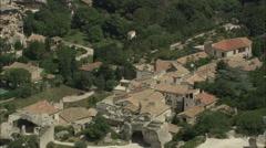 AERIAL France-Tracking Past Les Baux-De-Provence Stock Footage