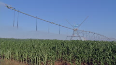 pivot irrigation 2 - stock footage
