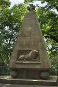 Memorial for the victims of the two world wars Munster Munsterland North - stock photo