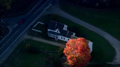 AERIAL United States-Robert Frost Homestead Stock Footage