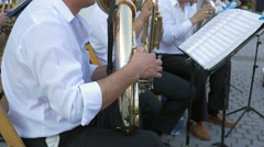Brass Band Member Performing Stock Footage
