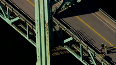 AERIAL United States-Sarah Mildred Long Bridge Stock Footage