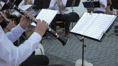 Clarinet Musician Performs with Band Stock Footage