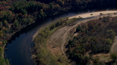 AERIAL United States-Merrimack River Stock Footage