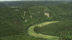 AERIAL Germany-Upper Danube Nature Park And Villages Stock Footage