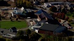 AERIAL United States-Christa Macauliffe Planetarium - stock footage