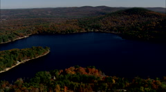 AERIAL United States-Franklin Pierce Lake - stock footage