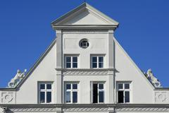 Stock Photo of Facade of a Classicistic house from 1800 Luneburg Lower Saxony Germany Europe