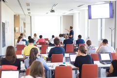 Informatics workshop at university. - stock photo