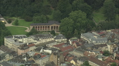 AERIAL Germany-Baden Baden Stock Footage
