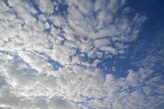 Large fluffy clouds Altocumulus Germany Europe Stock Photos