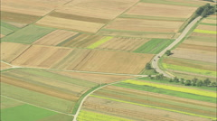 AERIAL Germany-Woods, Villages And Field Patterns Stock Footage