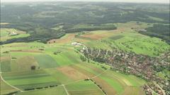 AERIAL Germany-Landscape Around Blaubeuren Stock Footage