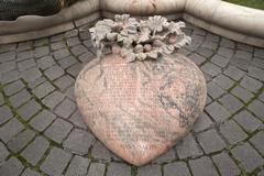 Heart with a poem by Hans Sachs 1541 in front of the Ehekarussel or - stock photo