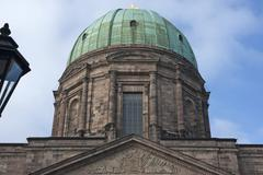 Dome of St Elizabeth Church neo classical church completed in 1903 Nuremberg - stock photo