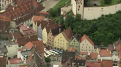 AERIAL Germany-Fussen And Castle Stock Footage