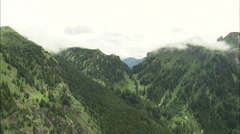 AERIAL Germany-Bavarian Alps - stock footage