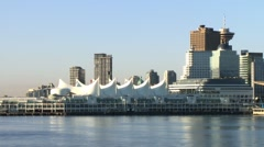 Vancouver's Canada Place, early morning. Stock Footage