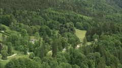 AERIAL Germany-Linderhof Palace Garden Stock Footage