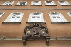 Stock Photo of Plaque for Friedrich Ruckert German poet at his birthplace Schweinfurt Lower