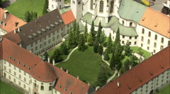 AERIAL Germany-Ettal Abbey - stock footage