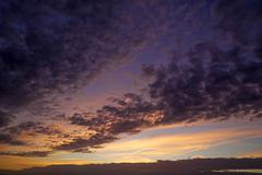 Evening sky with clouds Altocumulus stratiformis clouds Stock Photos