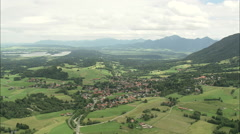 AERIAL Germany-Landscape And Villages Stock Footage