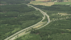 AERIAL Germany-Junction Of A99 And A8 Stock Footage