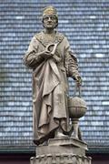 Monument to Johann Muller called Regiomontanus mathematician astronomer - stock photo