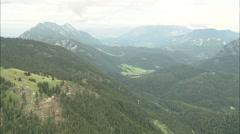 AERIAL Austria-Entering Berchtesgadener Land Stock Footage