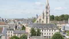 City of Caen located in northen French region Normandy 4K 3840X2160 UltraHD t Stock Footage