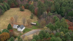 AERIAL United States-Daniel Webster Birthplace - stock footage
