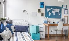 Designed room for male teenager - stock photo