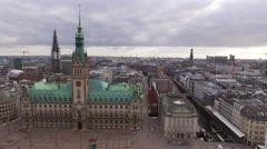 Aerial view of Hamburg, Germany as a travel destination Stock Footage