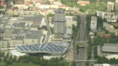 AERIAL Germany-Bmw Headquarters Stock Footage