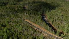 AERIAL United States-Swift River And Kancamagus Highway Stock Footage
