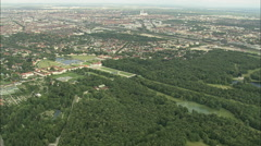 AERIAL Germany-Nymphenburg Palace - stock footage