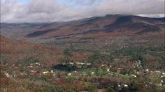 AERIAL United States-Landscape Around Glen Stock Footage